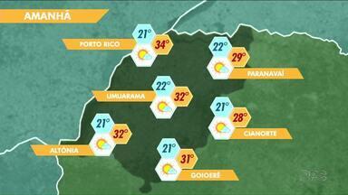 Temperaturas passam dos 30 graus no fim de semana - Não deve chover na região noroeste no sábado (9)