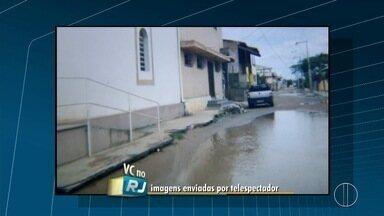 Imagens mostram ruas alagadas no distrito de Goytacazes, em Campos, no RJ - Assista a seguir.