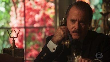 José Augusto marca um encontro com o Dr. Cortez - Ele avisa que conversará com Delfina mais tarde