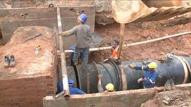 Religação do sistema Italuís é adiado após rompimento de tubulação - Suspensão no abastecimento nesse período tornou ainda mais grave a falta d'água em diversos bairros de São Luís.