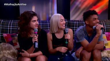 Giovanna Grigio, Ana Hikari e Juan Paiva falam sobre casal Sanderson - Atores debatem sobre novo triângulo amoroso na trama