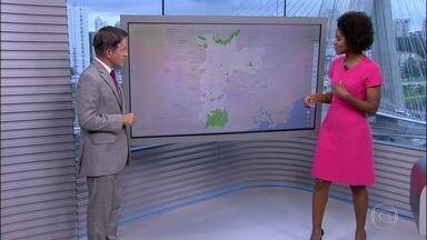 Confira a previsão do tempo para esta terça-feira (12) em São Paulo - O dia deve começar com 16 graus e garoa. Máxima de 23 graus.