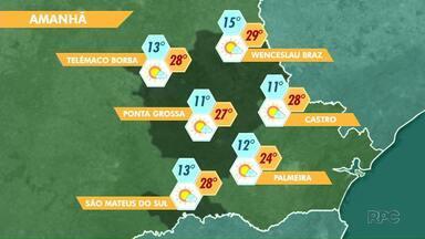O tempo seco predomina esta semana em Ponta Grossa - Previsão de sol e temperaturas elevadas nos próximos dias.