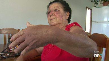 Idosa é brutalmente agredida durante um assalto em Francisco Beltrão - Suspeito de ter cometido o crime já foi preso.