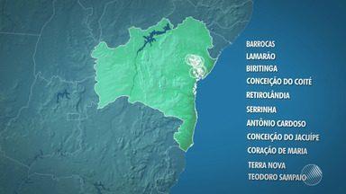 Falta de energia em estações da Embasa deixa 11 cidades da região de Feira sem água - Embasa afirma que já acionou a Coelba para resolver o problema. Veja quais são as cidades afetadas pela suspensão do fornecimento de água.