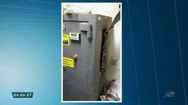 Quadrilha arromba cofre de banco na cidade de Aurora - Criminosos usaram um maçarico para arrombar o cofre da agência.