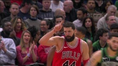 Nikola Mirotic volta às quadras e Chicago Bulls vence o Boston Celtics - Nikola Mirotic volta às quadras e Chicago Bulls vence o Boston Celtics