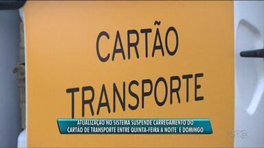 O sistema para carregar o cartão de transporte vai ficar suspenso até domingo(17) - O programa vai passar por uma atualização de hoje (14) até o próximo domingo(17). Depois disso a URBS diz que novos pontos de vendas serão instalados em Curitiba