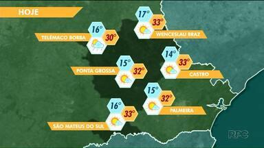 Tarde de quinta-feira será com sol nos Campos Gerais - Em Ponta Grossa, máxima chega aos 32 graus.