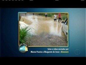 VC no MGTV: Confira os vídeos e fotos enviados pelos moradores de Almenara - Moradores reclamam da situação de uma ponte da cidade.