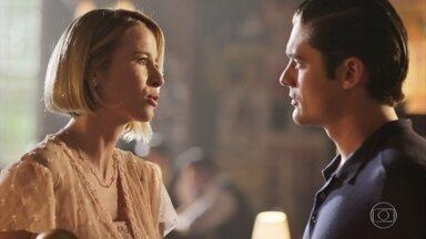 Celina e Artur se revoltam quando ficam sabendo de surra levada por Edgar - Olímpia e Edgar falam que vão sentir falta de Maria Vitória