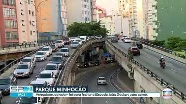 Vereadores aprovam lei para fechar o Elevado João Goulart para carros - Vereadores aprovam lei para fechar o Elevado João Goulart para carros.