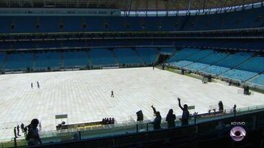Torcedores começam a chegar na Fan Fest, na Arena - Milhares de torcedores são esperados para assistir à final do Mundial de Clubes.