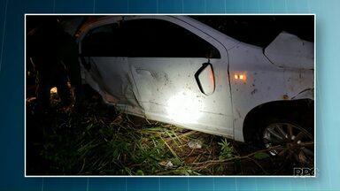 Carro bate em capivara e várias pessoas ficam feridas - Acidente foi na região de Paranavaí