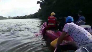Bombeiros retomam as buscas a pastor que desapareceu no Rio Tibagi - Ele desapareceu enquanto nadava nas águas do Rio Tibagi.