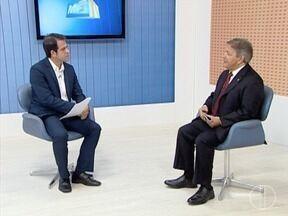 Deputado estadual Carlos Pimenta participa de entrevista no MG Inter TV 1ª Edição - Deputados que representam a região participam de série de entrevista no MG Inter TV.
