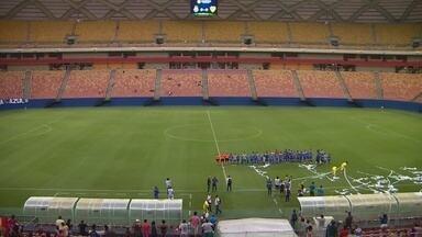 Em protesto, jogadores do CDC Manicoré não participam do hino nacional em final da Série B - Jogadores teriam ficado no vestiário até diretoria conversar sobre salários atrasados, antes do jogo contra o São Raimundo.