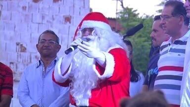 Confira a chegada do papai Noel na região do Crato - Saiba mais em g1.com.br/ce