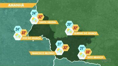 Tempo segue quente na região - Veja a previsão no mapa.