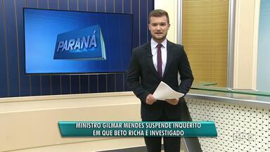 Justiça suspende investigação contra governador Beto Richa na operação Publicano - O governador era investigado porque foi citado em delação premiada, por receber dinheiro de propina para a campanha de 2014.