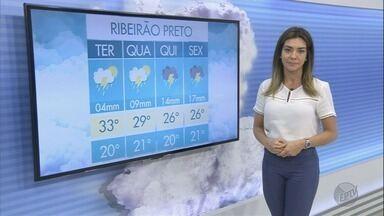 Veja a previsão do tempo para esta terça-feira (19) na região de Ribeirão Preto - Faz calor e há previsão de pancadas isoladas de chuva.