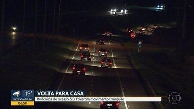 Volta pra casa é tranquila na Região Metropolitana de Belo Horizonte - O movimento de veículos foi grande, mas não houve congestionamento.