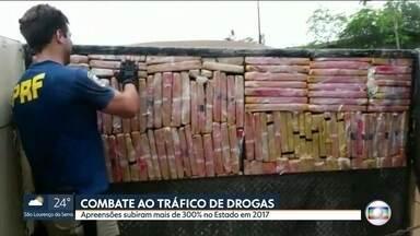 Aumenta a apreensão de drogas nas estradas de São Paulo - Entre agosto e novembro deste ano, foram apreendidas 48 toneladas de maconha e oito de cocaína, 300% a mais do que no mesmo período de 2016.