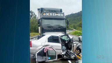 Dez pessoas morrem em acidentes nas rodovias federais no feriado de natal - Sete mortes ocorreram na BR-153.