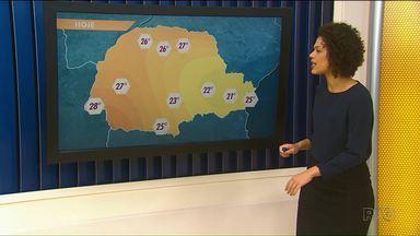 Região de Ponta Grossa segue com previsão de chuva - Temperaturas variam de 21 a 28 graus.
