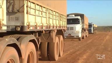 Reajuste no valor do combustível dificulta transporte da safra de grãos - Na cidade de Balsas, o preço do óleo diesel é o mais caro do estado