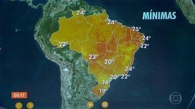 Previsão é de chuva em várias regiões do país nesta quarta (27) - A chuva já pode vir logo cedo em lugares como o interior do Paraná, o interior de São Paulo e em Mato Grosso do Sul. Confira a previsão para todo o país.