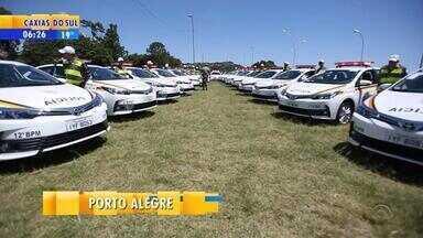 Brigada Militar recebe 118 novos veículos no Rio Grande do Sul - Automóveis serão destinados a 30 municípios.