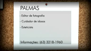 Confira as vagas disponíveis para Palmas, Porto Nacional e Gurupi - Confira as vagas disponíveis para Palmas, Porto Nacional e Gurupi