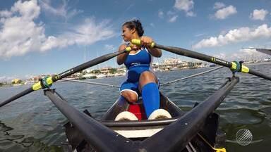 Patatleta baiana integra a Seleção Brasileira de Remo - Conheça a história de Gizane Aguiar.