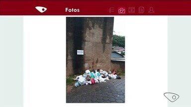 Sacolas de lixo são encontradas espalhadas em ruas de Colatina, ES - Sanear informou que está trabalhando de forma mais intensa por causa do aumento da quantidade de lixo após festas de fim de ano.