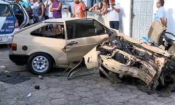 Morre um dos suspeitos de assalto que sofreram grave acidente durante fuga no ES - Os outros dois feridos estão internados em estado de saúde estável.