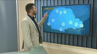 Veja como fica a previsão do tempo para o fim de semana - Pancadas de chuva estão previstas para agora a tarde no Noroeste.