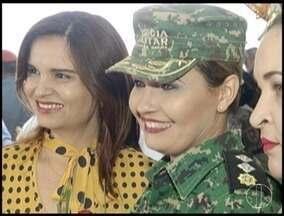 Comandantes da PM assumem novas funções no Norte de Minas - Oficial superior é a primeira mulher a comandar unidade operacional na região.