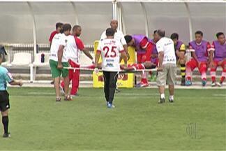 União sai na frente, mas sofre virada e é derrotado pelo Bragantino na Copa São Paulo - Equipe de Mogi das Cruzes faz bom primeiro tempo contra Bragantino, mas lesões atrapalham o time, que se complicou na disputa por uma vaga na próxima fase da Copinha