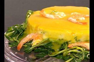 Veja a receita de um manjar de camarão com calda de tucupi - A receita é de uma telespectadora do programa.