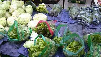 Verduras e legumes estão em falta em alguns supermercados de Londrina - A chuva forte dos últimos dias prejudicou a produção de hortaliças.