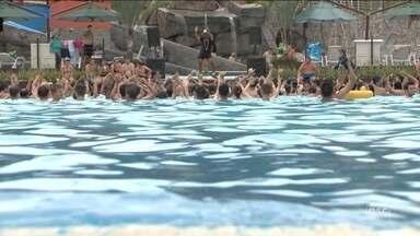Parque aquático é alternativa para os turistas durante o verão - Parque aquático é alternativa para os turistas durante o verão
