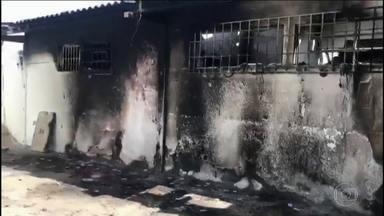 Justiça determina medidas emergenciais em presídio de Goiás - Presídio em Aparecida de Goiânia teve três rebeliões só nessa semana. Nove presos morreram.
