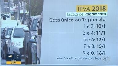 Veja a escala de pagamento do IPVA em Minas Gerais - A primeira parcela para veículos de placas final 1 e 2 vence nesta quarta-feira.