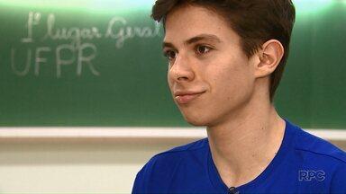 Primeiro lugar geral da UFPR é de Maringá - Ele também foi aprovado em medicina em outra faculdade particular da cidade.