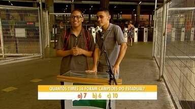 Campeonato Mineiro começa na próxima 4ª feira, e o GE foi testar o conhecimento da torcida - Campeonato Mineiro começa na próxima 4ª feira, e o GE foi testar o conhecimento da torcida