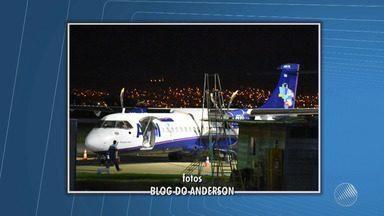Avião faz pouso de emergência em Vitória da Conquista após suspeita de incêndio - Aeronave da empresa Azul seguia em direção a Belo Horizonte em agora está passando por serviço de manutenção.