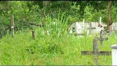 Moradores reclamam da falta de manutenção em cemitérios de Peixe - Moradores reclamam da falta de manutenção em cemitérios de Peixe