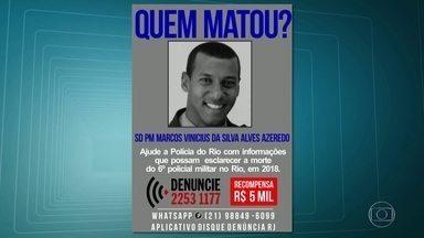 Número de policiais mortos no Rio neste ano sobe para 6 - Subiu para seis o número de policiais mortos no Rio de Janeiro em 2017. A última vítima foi o soldado Marcos Vinícius Azeredo, morto no bairro Galo Branco, em São Gonçalo, depois de uma tentativa de assalto.