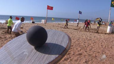 Baiano se destaca no ranking nacional de frescobol, esporte que é a cara do verão baiano - Bahia tem mais de 3500 jogadores de frescobol registrados em associações.